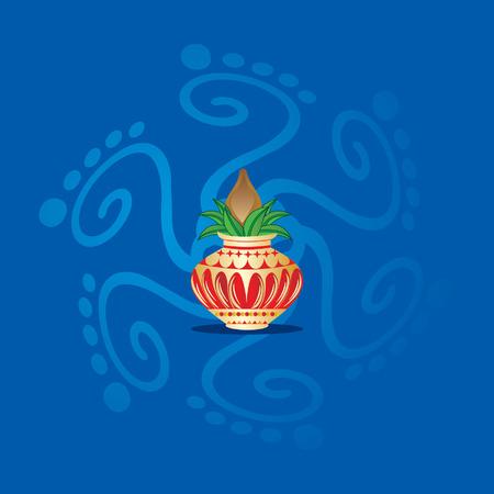 kalash with concept of worship