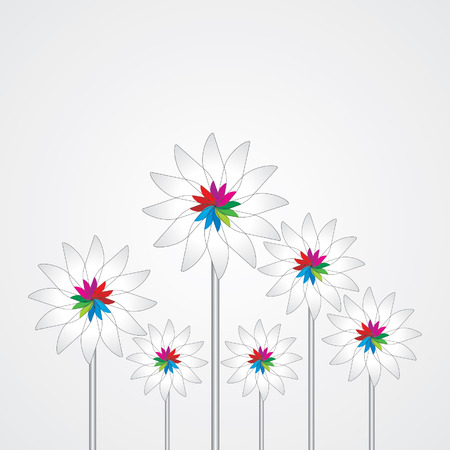 Beautiful flower vintage background Illustration