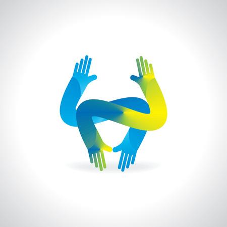 participate: creative hand opposite direction Illustration