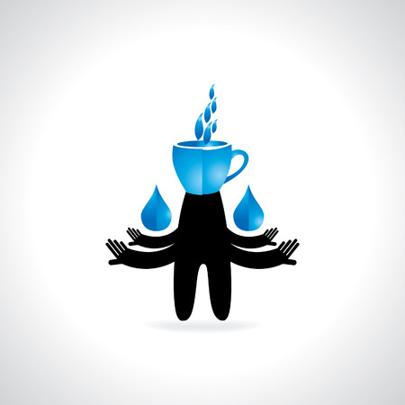 caring hands: hands caring water drop with tea cup