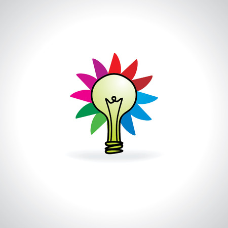 creative bulb with colorful wheel