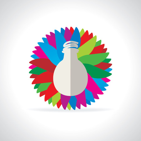 worldrn: bulb over colorful background