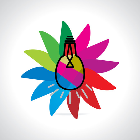 colorful bulb over colorful background