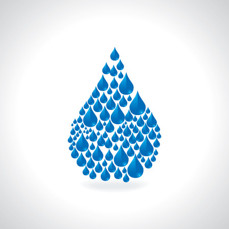 recycling campaign: save water concept created by water drop Illustration