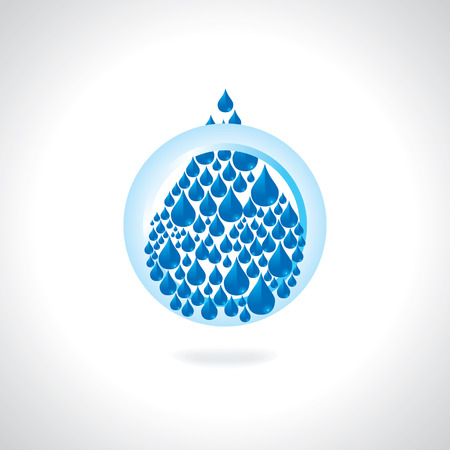 save water concept with circle illustration Illustration