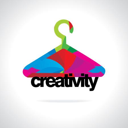 creativity concept: colorful hanger business creativity concept Illustration