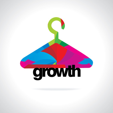 coat rack: colorful hanger business growth concept