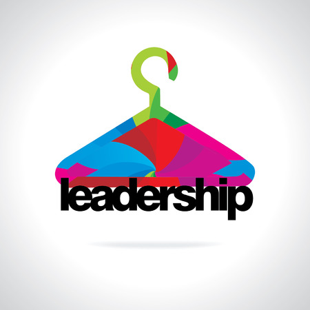 colorful hanger business leadership concept Vector