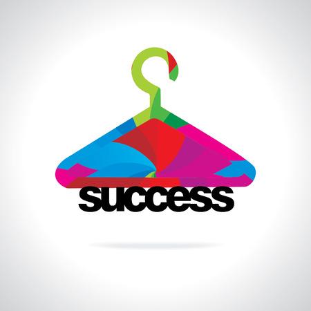 business success concept: colorful hanger business success concept