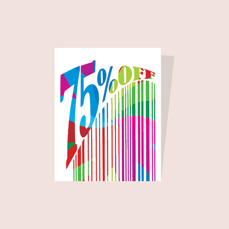 the inscription: bar code concept with discount