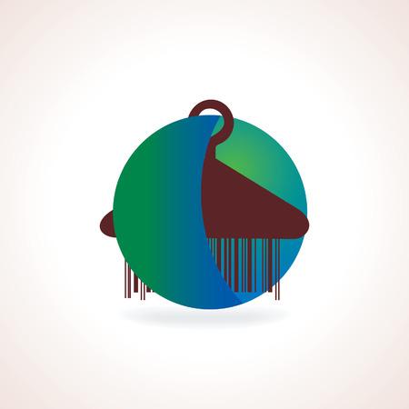 woodenrn: hanging hanger with inside of circle Illustration