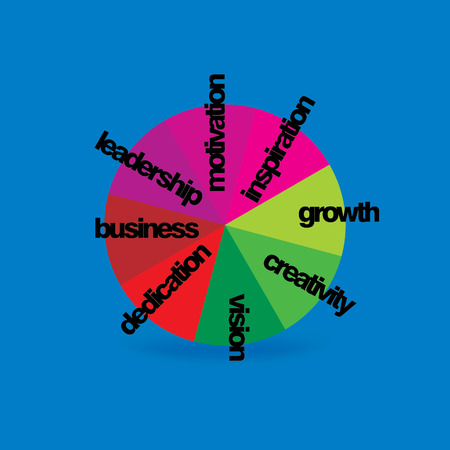 chromatic colour: colorful wheel with business concept