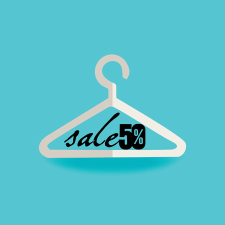 hanger concept with sale Vector