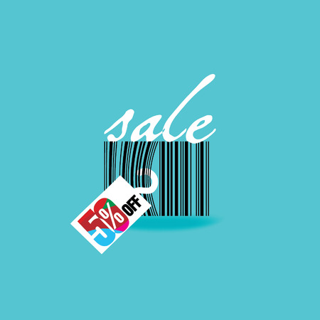sale discount with bar code Vector