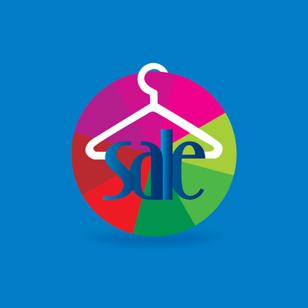 hanger connected with sale colorful wheel Vector