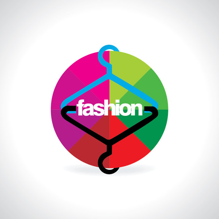 hanger with colorful abstract wheel Vector