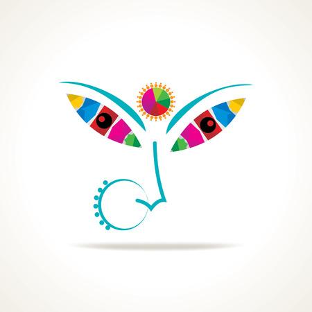 puja: creative illustration of maa durga indian festival navratra