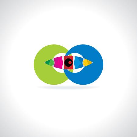 creative logo with eye concept idea Vector