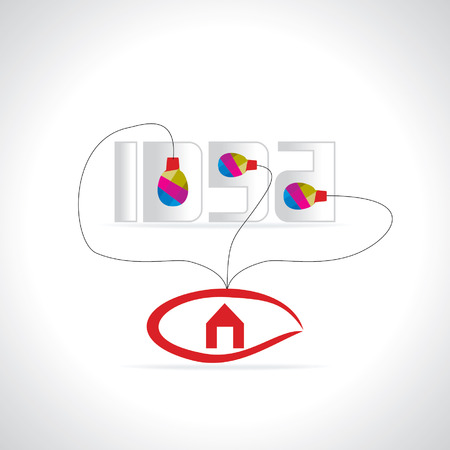 idea concept connected with eye inside of house Vector
