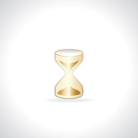 sand clock: oro creativo idea concepto de tiempo de reloj de arena