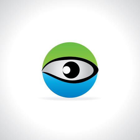 creative blue green eye vision concept Vector
