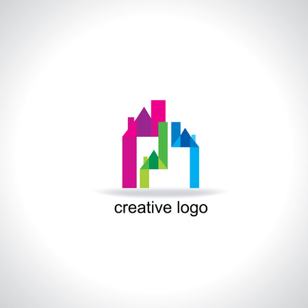 home group: creative house vector illustration