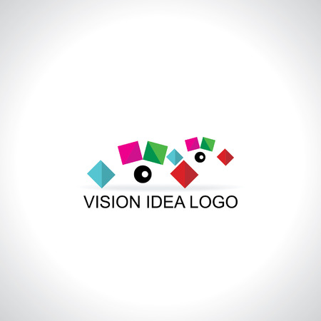 colorful creative eye vision concept Vector