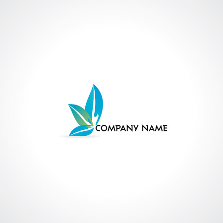massage symbol: Creative logo design concept idea