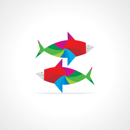 rutilus: colorful abstract fish vector