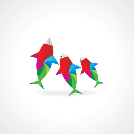 colorful abstract fish vector
