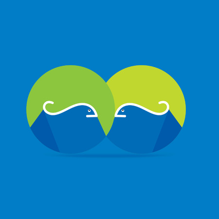 creative fish over blue background Vector