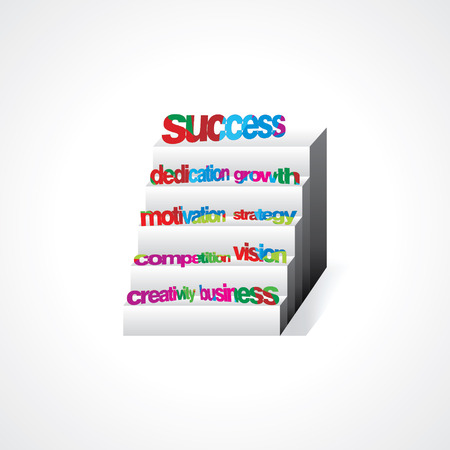 creative stairs concept for success Vector