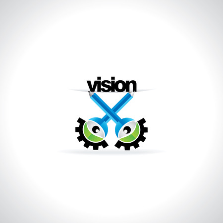 engineering concept: creative engineering concept with vision Illustration