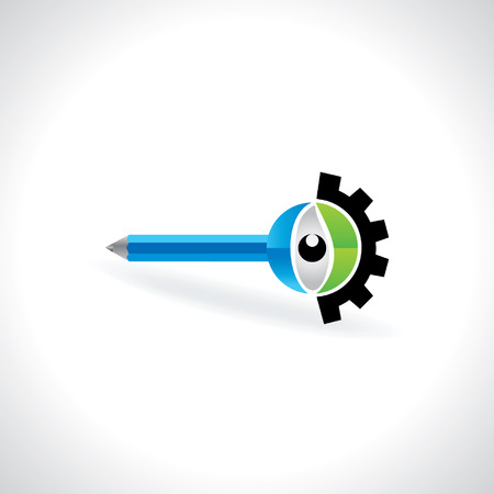 engineering concept: creative engineering concept with eye Illustration