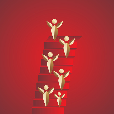 success concept: creative stairs concept success idea Illustration