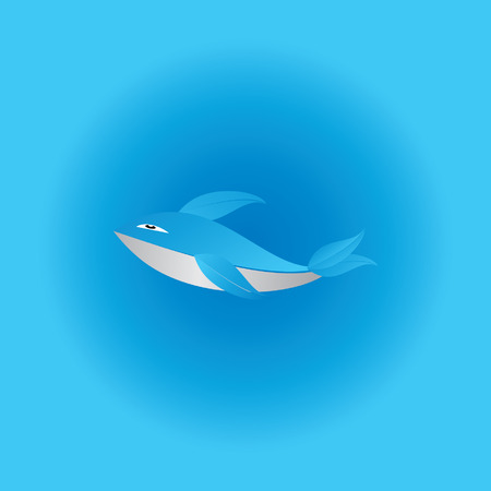 creative fish in water for food Vector