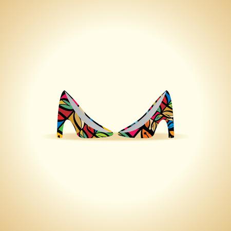 footwear: women footwear vector