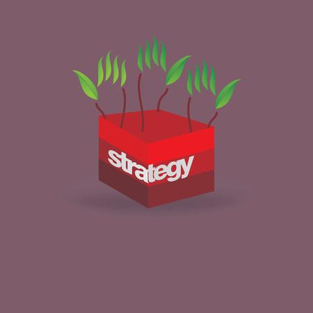 creative green hand idea strategy idea concept Vector