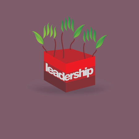 creative green hand idea leadership idea concept Vector