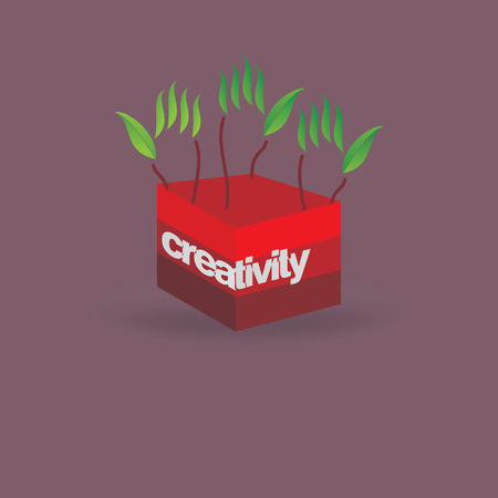 green hand: creative green hand idea creativity idea concept