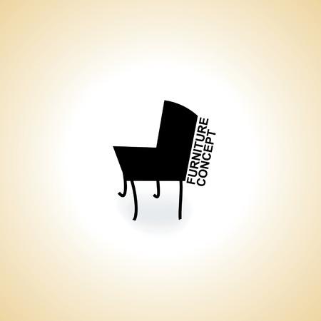 furniture chair logo concept idea vector Vector