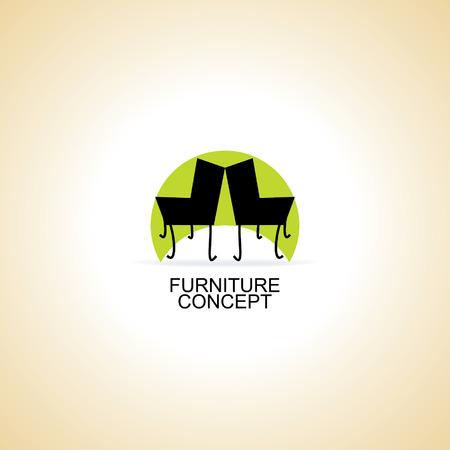 classic interior: furniture chair logo concept idea vector Illustration