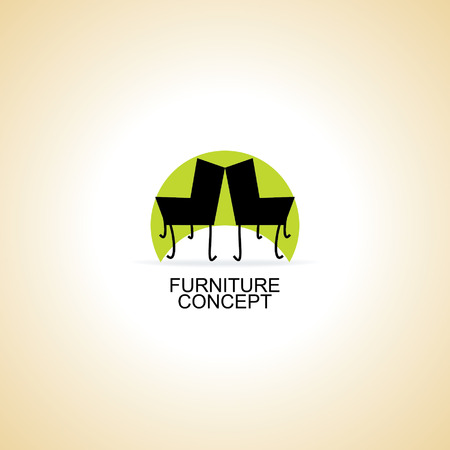 furniture chair logo concept idea vector Illustration