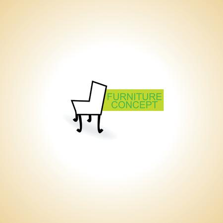 furniture chair illustration concept idea vector Vector