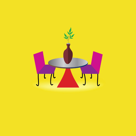 plant in pot: creative table chair concept with plant pot