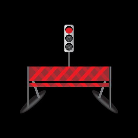 regulate: traffic signal with road idea vector illustration