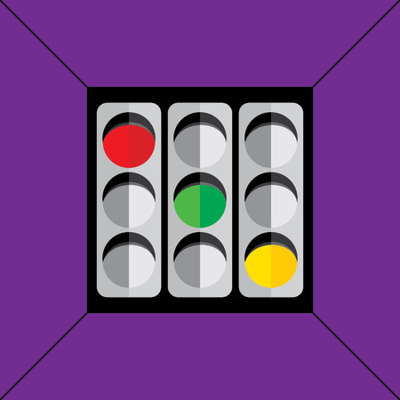 traffic signal concept idea vector Vector