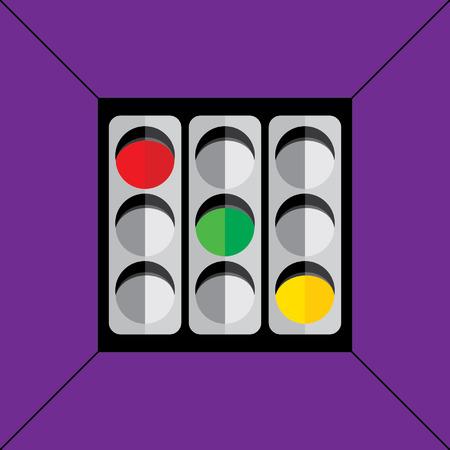 traffic signal concept idea vector Vector
