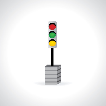 traffic signal: traffic signal concept idea vector