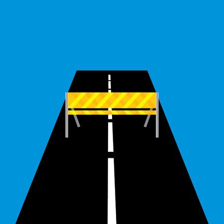 regulate: traffic barriers concept idea vector